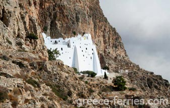 Monastery of Virgin Marry Hozoviotisa Amorgos Cyclades Greek Islands Greece