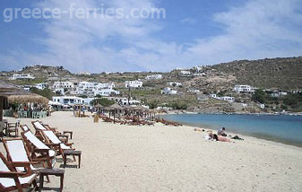 Ornos Beach Mykonos Island Greece