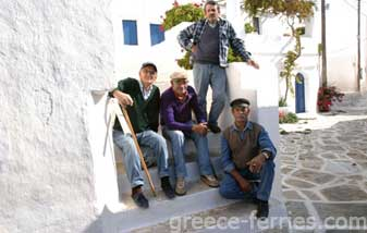 Architecture of Sikinos Cyclades Greek Islands Greece