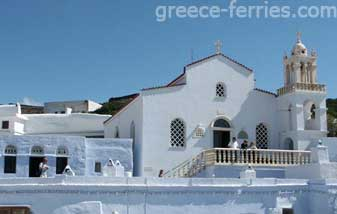 The Holy monastery of Kechrovouni Tinos Cyclades Greek Islands Greece