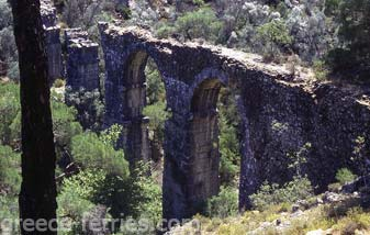 Roman Aqueduct Lesvos East Aegean Greek Islands Greece