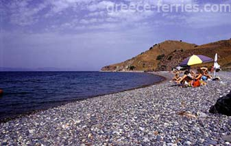 Beach Lesvos Mytilini East Aegean Greek Islands Greece