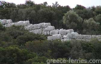 Cyclopean Wall Kefalonia Greek Islands Ionian Greece