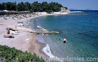Agia Marina Beach Spetses Greek Islands Saronic Greece