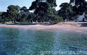 Agia Paraskevi Beach Spetses Greek Islands Saronic Greece