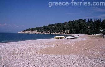 Agioi Anargiri Beach Spetses Greek Islands Saronic Greece